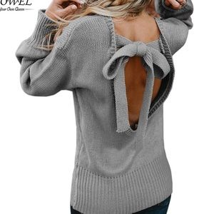 Sweaters - This sweater is everything. Open back with tie